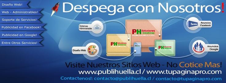 PUBLIHUELLA.CL  @PUBLIHUELLA    Eficacia a su Servicio (Diseño Web-hosting-dominios-correo-redes sociales-publicidad-marketing-soporte entre otros servicios)    CHILE · http://www.publihuella.cl