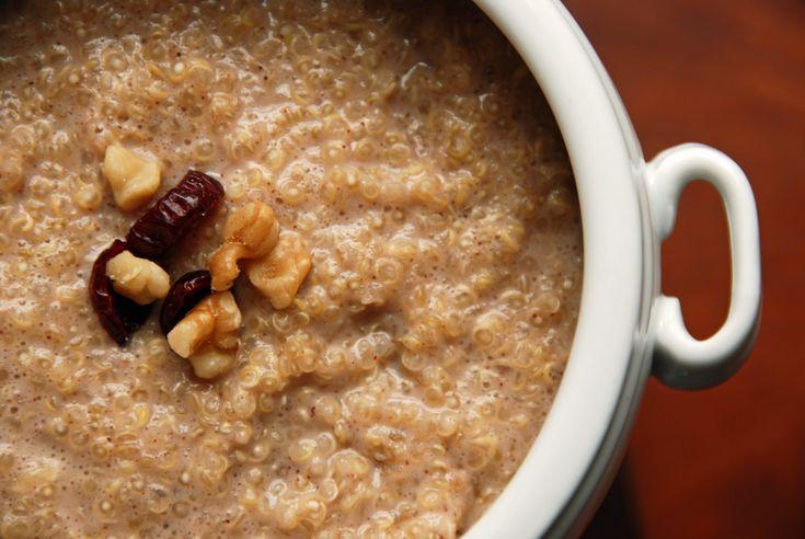 Quinoa Porridge w/ Dried Fruit, Walnuts, Cinnamon & Honey