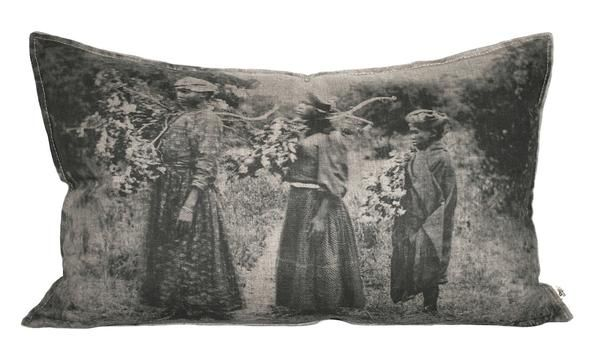 Ladies with Branches Cushion, Printed