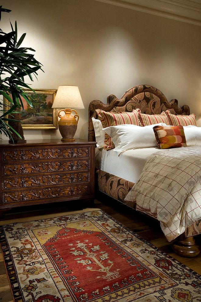 Tuscan style bedroom design bed frame with headboard and fabric finishing hardwood bedside table with handmade crafts ornaments Tuscan style bedroom rug of Complete Your Bedroom Needs with Dillards Bedroom Furniture Sets