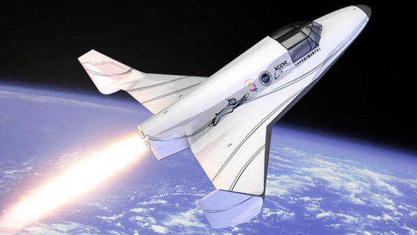 "Mojave-based XCOR is currently busy constructing the ""Lynx,"" a two-seater commercial craft supposedly capable of cruising 62 miles above the Earth's surface at speeds of more than 2,500 miles per hour (3.5 times the speed of sound)."