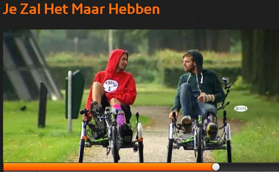 Driewielligfiets Easy Sport in het programma Je Zal Het Maar Hebben