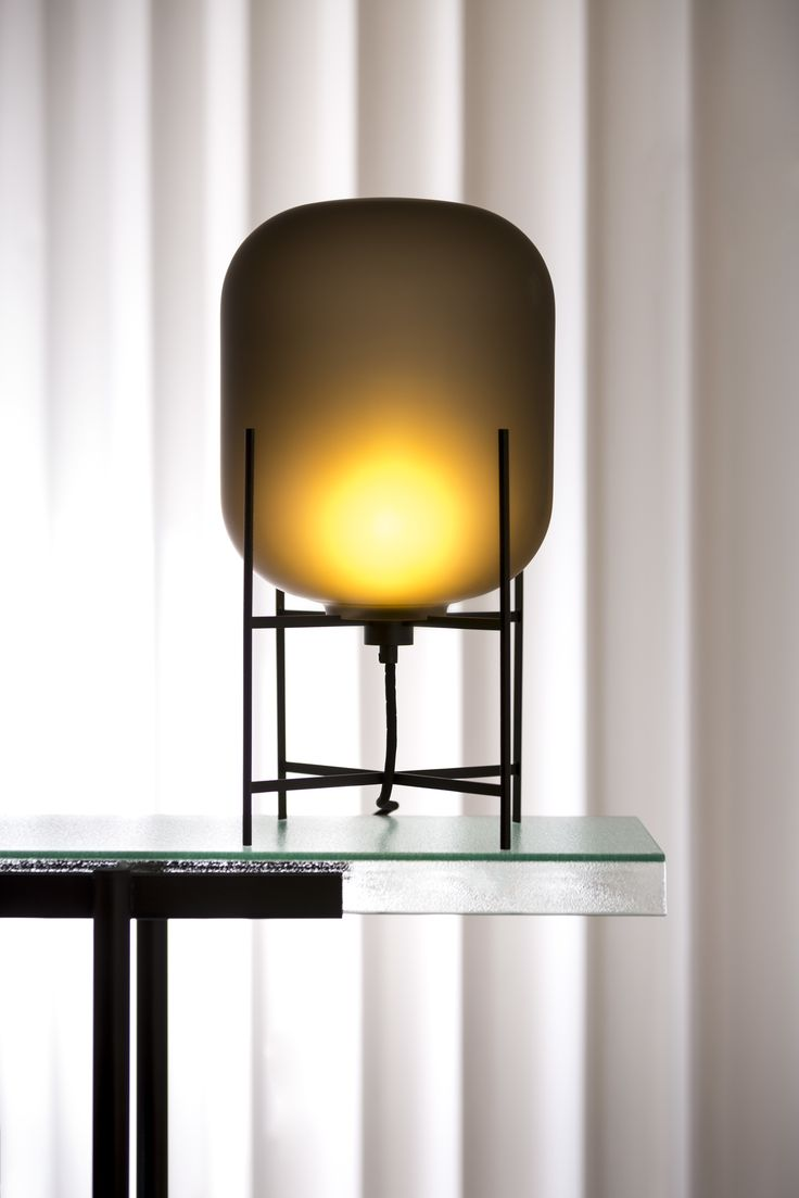 Luxury Table lamp Oda Small by Sebastian Herkner for pulpo Materials u colors smoky