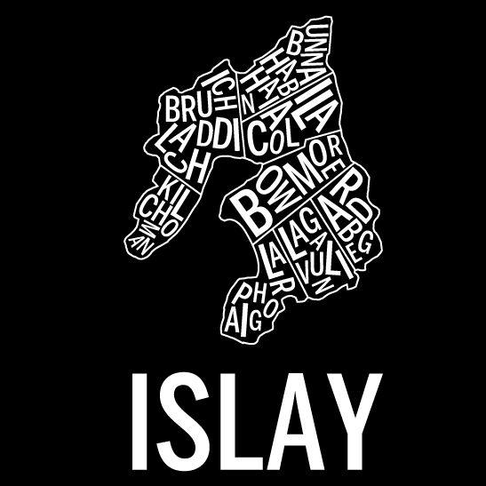 Islay i färgen negativ svart