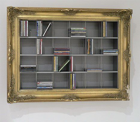 Creative CD and DVD Storage Photo Cool idea for those plan book shelves & The 7 best images about Storage Ideas on Pinterest | Shelving ...