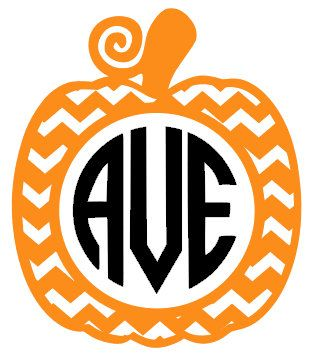 Chevron Pumpkin Design File for Cutting by CoralCharmBoutique