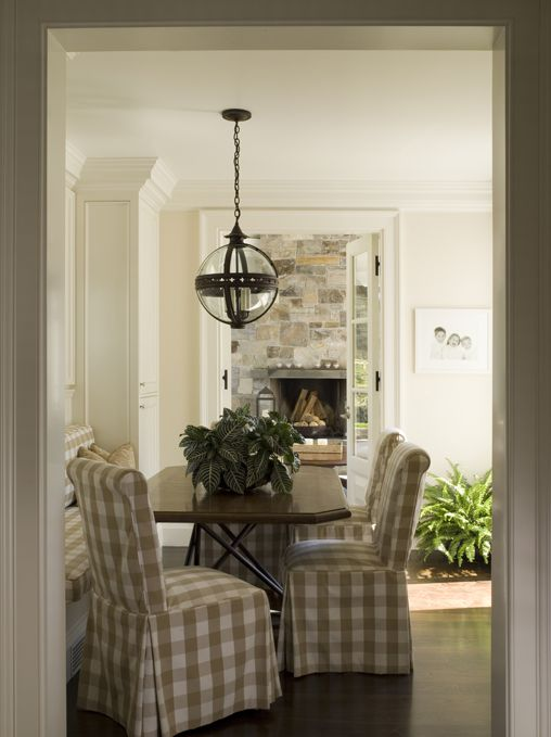 An American Country House - Design Chic #HomeDecorators #Homes #Dining