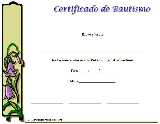 Partida De Matrimonio Catolico : Certificado de bautismo para imprimir los certificados