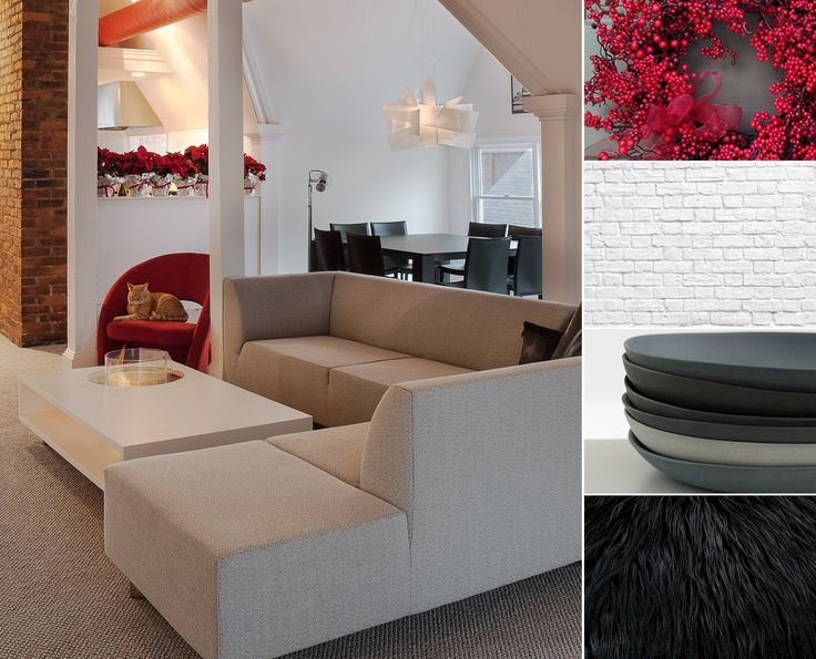 Each #color that you choose for an interior makes you react differently. Both black and #red are powerful colors that will give you vigor and positive energy. While #white and grey provide the complementary balance and a modern appearance.  www.planikafires.com Coffee Fire Long by Planika