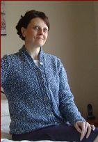 Knitting pattern for a ladies 8ply Snowflake yarn cardigan.