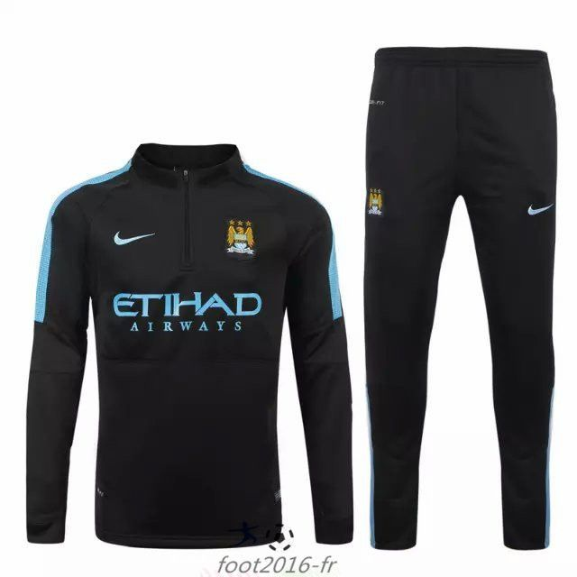 nouveau survetement equipe de foot manchester city noir 2015 2016 chine shop survetement foot. Black Bedroom Furniture Sets. Home Design Ideas