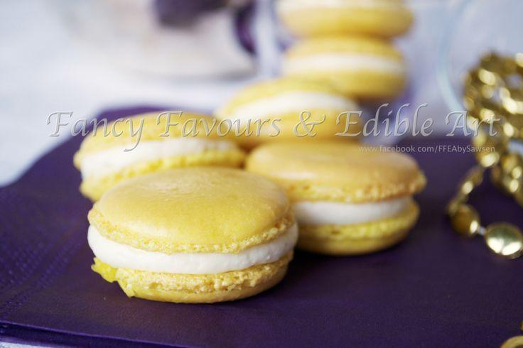 Lemon Macaron | Fancy Favours & Edible Art -- #bright #French #macaron #treat #yellow #lemon #buttercream #cookie #cookies  #treats #favours #weddingfavours #wedding #handmade #edibleart