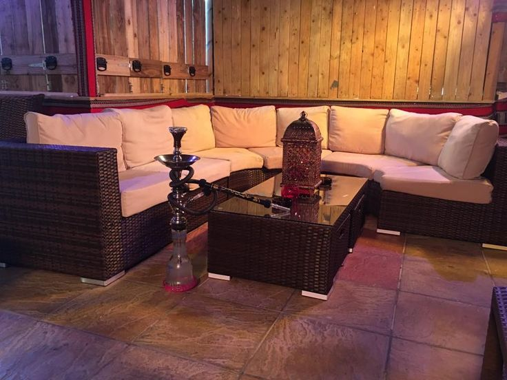 A shot of the #Shisha #Garden #Cafe. Great seating area for a group of #friends. Perfect for #students and others to come and #relax. #Shisha #hookah. #Night #Margate
