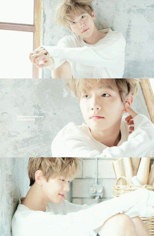 EXO Baek as pure as first snow or a cotton candy cloud