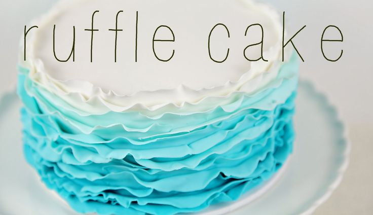 Ombre fondant ruffles. So pretty, and I just love it in this colour! http://youtu.be/96zbiaAcbkc