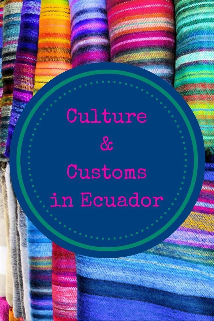 Culture customsin ecuador