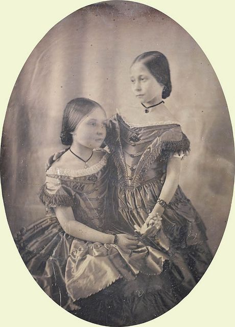Victoria, Princess Royal and Princess Alice, children of Queen Victoria and Prince Albert, 1852 by Theodore Brunell | Flickr - British Monarchy