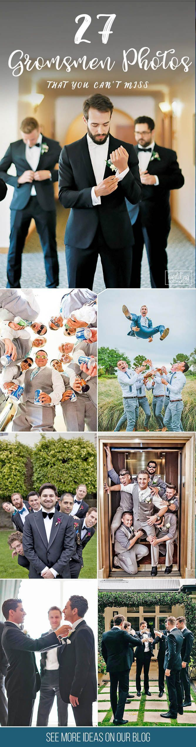 27 Awesome Groomsmen Photos You Can't Miss ❤️ You already got a list of must have photos with your bridesmaids. It's only fair we gathered a similar gallery of awesome groomsmen photos you can't miss! See more:      www.weddingforwar... # groom #groomsmen