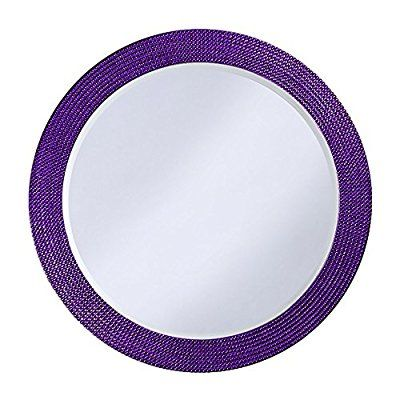 Save 89%- Howard Elliott Collection 2133RP Lancelot Round Mirror, Royal Purple