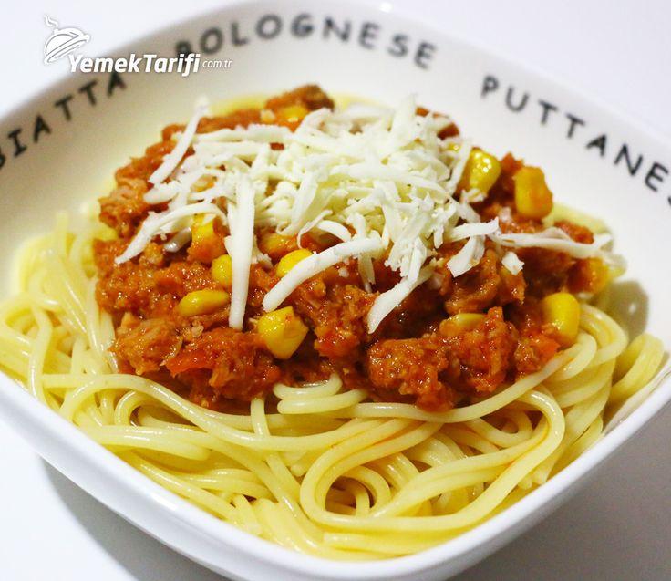 Ton Balıklı Spagetti Tarifi