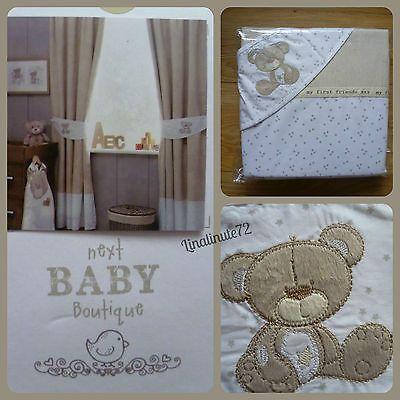 Teddy bear neutral nursery curtains