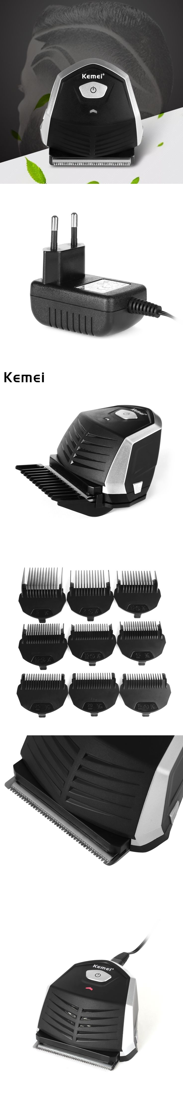 KEMEI Professional Electric Hair Trimmer Hair Clipper Haircut Beard Trimmer for Adult Men 100-240V with 9 Trimming Combs KM-6032