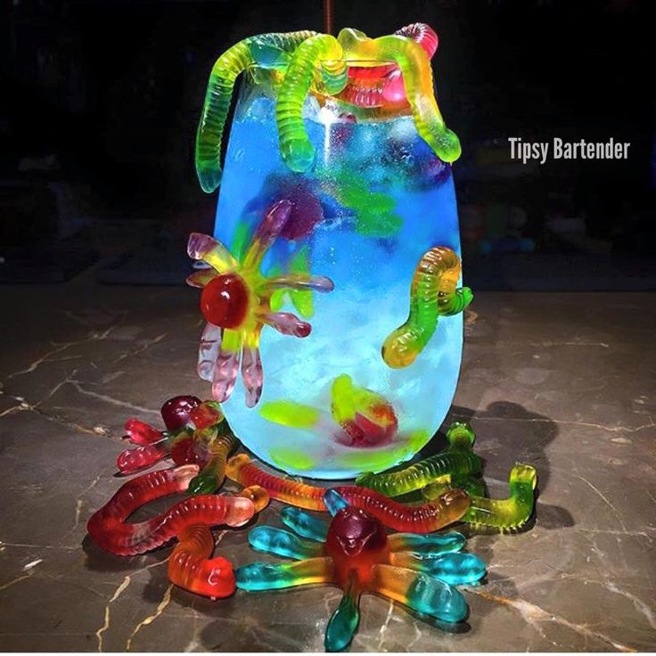 The Under the Sea cocktail! This wonder is sweet and satisfying! For the recipe, visit us here: http://www.tipsybartender.com/blog/under-the-sea