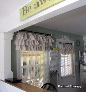Painted Therapy: DIY Ruffled Curtains