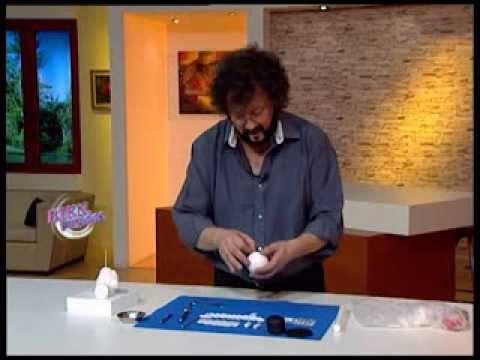 Jorge Rubicce - Bienvenidas TV - Modela un muñeco de nieve en porcelana ...
