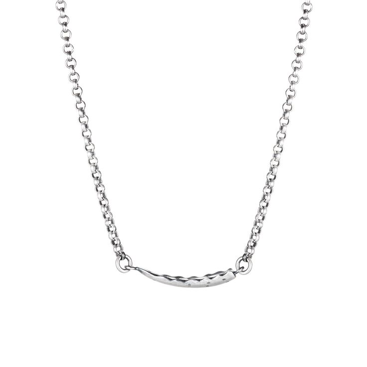 Aloe Necklace from Joy Everley Fine Jewellers, London. A continuous sterling silver necklace formed with the snapped leaf of an Aloe Vera.