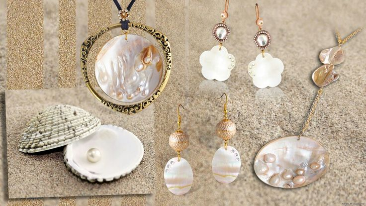 Collection with natural pearls..n shell..