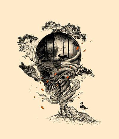 Skull Tree Tattoo | Francis Minoza and Laurence Minoza (Nicebleed) first tattoo idea!