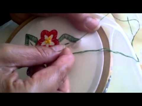 Basic Embroidery Button Hole stitch, making flowers - YouTube