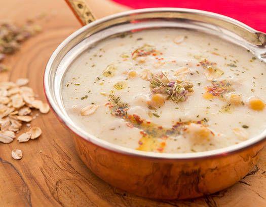 Sopa de avena con vegetales - Recetas