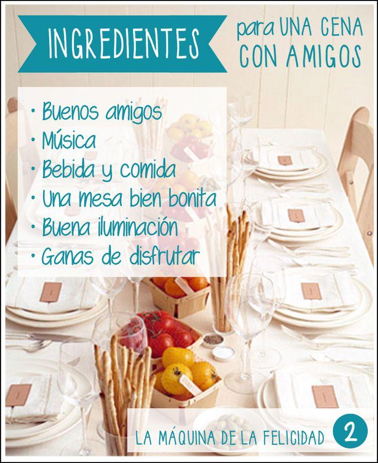Organizar una cena con amigos en casa eventos pinterest cenas en casa y amigos - Cena con amigos en casa ...