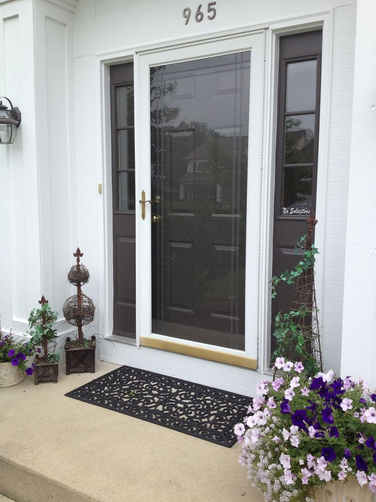 Just Painted Front Door Love The Color Black Fox By