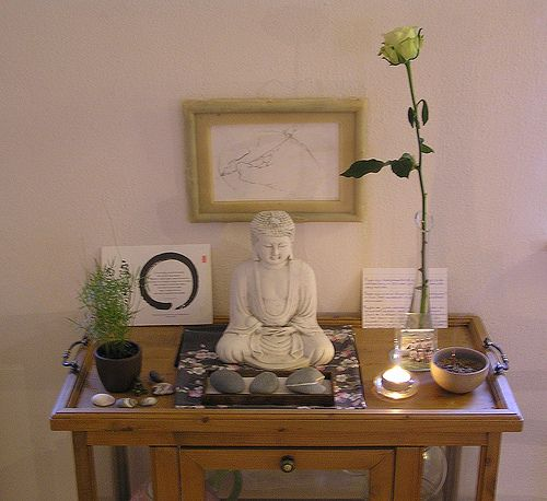 buddhist shrine home - Google Search