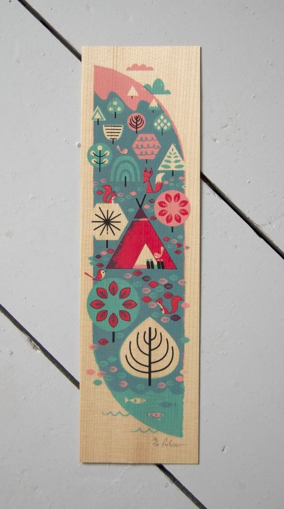 forest friends screenprint by peskimo