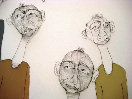 wire painting by Fiona Morley
