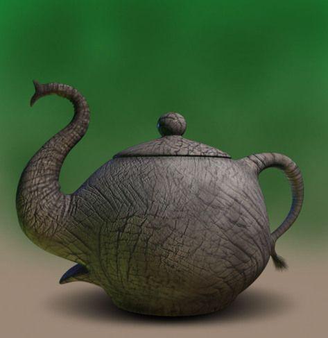 2elephant tea pot