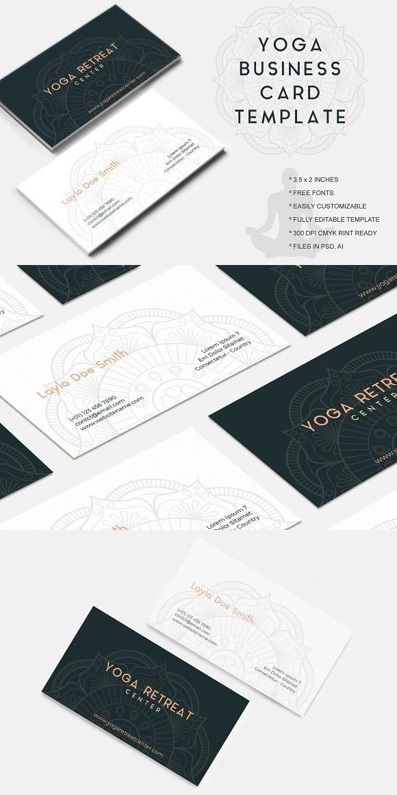 Business Cards For Yoga Instructors Yoga Business Yoga Instructor Business Card Yoga Teacher Business Cards