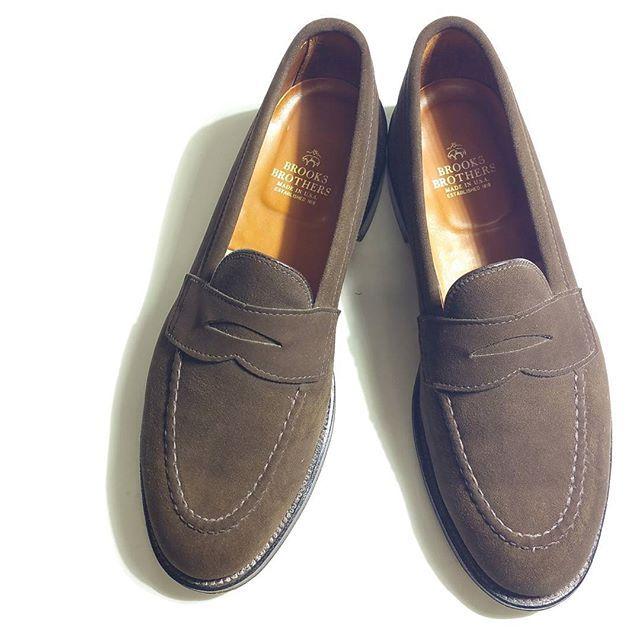 2016/12/09 00:21:18 rbnet.men 新入荷商品  #brooksbrothers  #ブルックスブラザーズ #Alden #オールデン 製 #ローファー  オールデン製のスエード ペニーローファー  フロア(屋内)で5-6回使用した程度だと思います。外履きの形跡はなく、とてもキレイな商品です。  アッパー:スエード ソール:シングルレザー color :ダークブラウン size:9.5D/履いた感じは27.5-28.0㎝ ラスト不明 おそらくVAN  店頭販売価格 税込 ¥39.900-  #rbnet #田園都市線 #小田急線 #中央林間 . . . .  #aldenarmy#usa製 #stylegram#styleformen#stylefashion#shoesfashion#styleguide#instafashion#instashoes#dressshoes#mensshoes#mensfashion#メンズシューズ#ドレスシューズ#古着屋#足元くら部#足元倶楽部#革靴#足元#ブランド古着#セレクトショップ