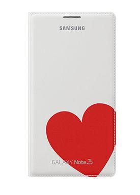 Pokrowiec SAMSUNG Moschino do Galaxy Note 3 Biały z czerwonym sercem