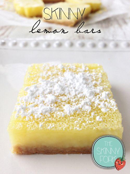 Skinny Lemon Bars.  No sugar (uses stevia)