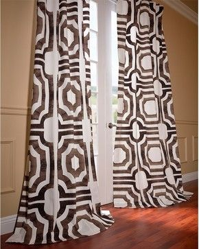 Mecca Printed Cotton Curtain - mediterranean - Curtains - Half Price Drapes