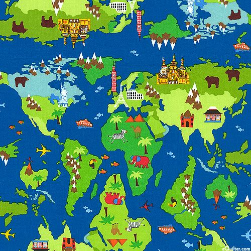 171 best travel themes images on pinterest etchings printables blue world map fabric by timeless treasures retro fabric fabric gumiabroncs Image collections
