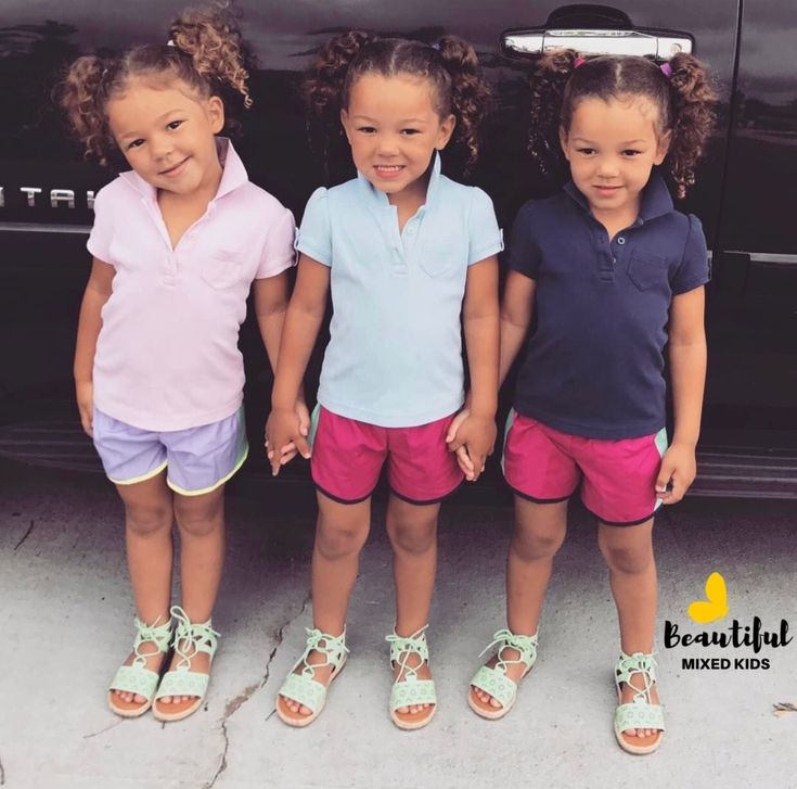 Sadie, Chloe & Lola - 6 Years • German, Irish & Haitian