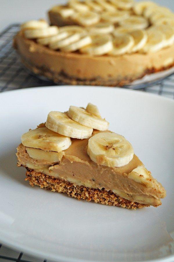 glutenvrije taart met kokos en banaan