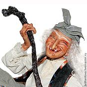 """кукла """"Баба-Яга в ступе"""" (проскульпт, 35 см)   dolls by Zoya Brilliantova"""