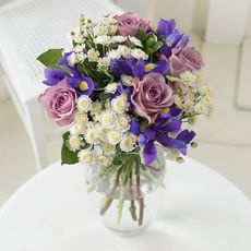 Soft Spring Rose & Iris